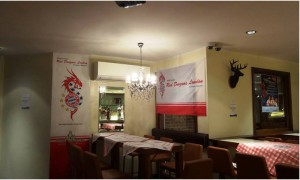 The Red Dragons' lair at the Bavarian Beerhouse in Tower Hill
