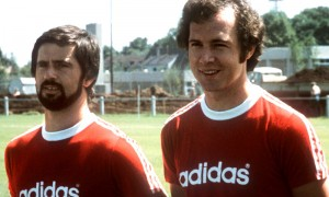 Two of the stars of the 1970s team, Gerd Müller and Franz Beckenbauer