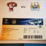 Champions' League 2013/14 Group Phase Match v Manchester City, Etihad Stadium, Mancheste