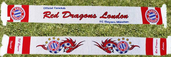 The exclusive Red Dragons London scarf